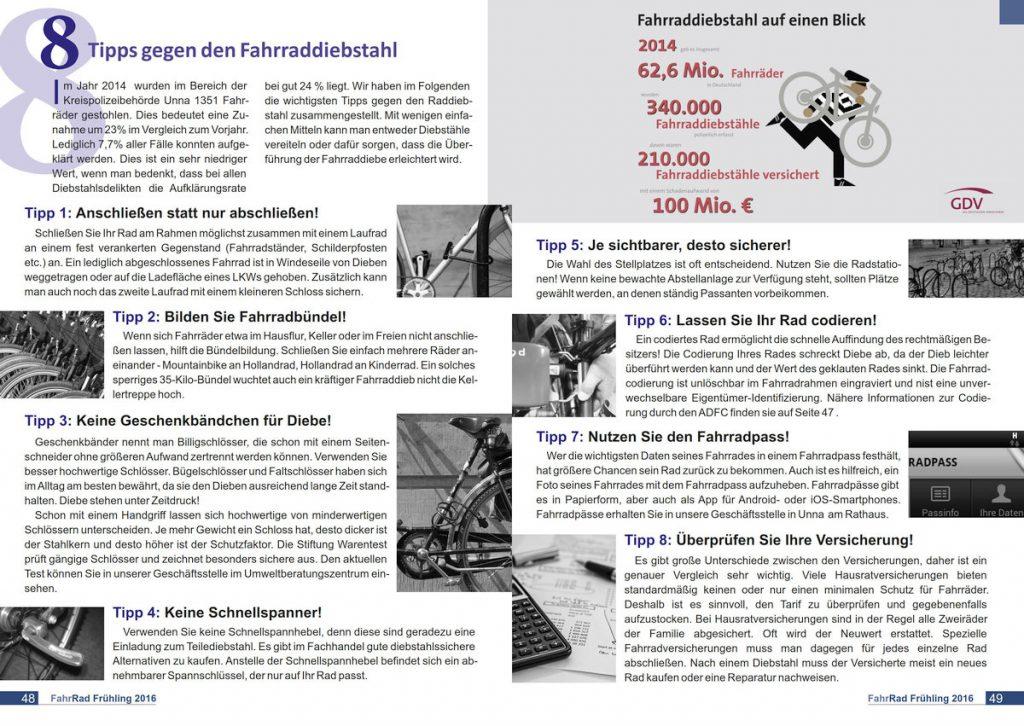 Zeitschrift FahrRad